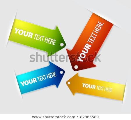 Zestaw długo poziomy kolorowy arrow zakładki Zdjęcia stock © orson