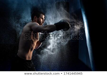 Foto stock: Lutador · concentração · momento · cara · modelo