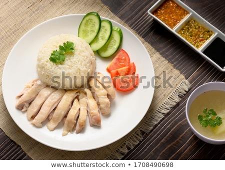 Chicken with rice stock photo © vaskoni