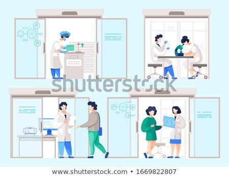 médico · cientista · diagnóstico · lab · teste · amostra - foto stock © lovleah