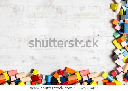 Stock photo: color blocks - meccano toy