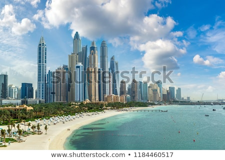 Strand Dubai leven bewaker stand station Stockfoto © CaptureLight