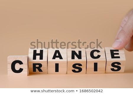Crise financeira mundial azul vermelho Foto stock © kbfmedia