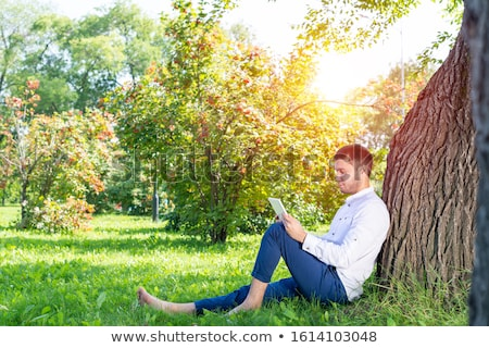 Man leaning against a tree Stock photo © photography33