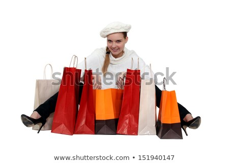 Glamorous woman surrounded by store bags Stock photo © photography33