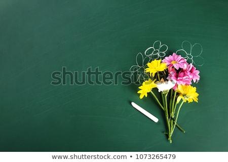 Stock fotó: Tanár · nap · üdvözlet · iskolatábla · alma · kék