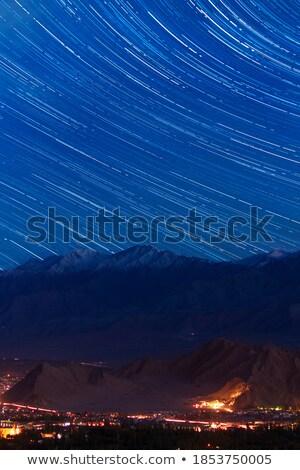 Birdeye view of a Tibetan village Stock photo © bbbar