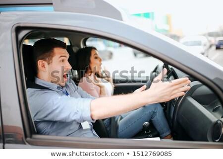 Moço indicação condução licença homem adolescente Foto stock © photography33
