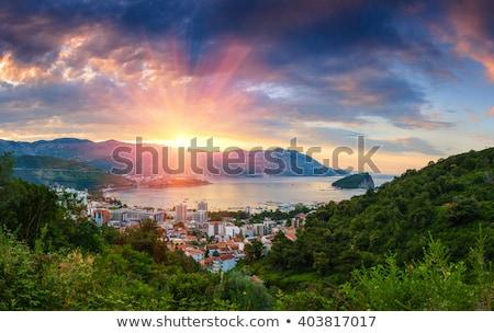 panorama of budva view from the sea stock photo © vlad_star