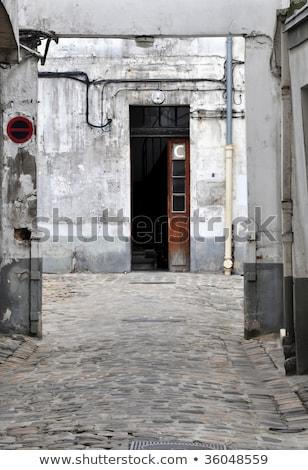 Decrepit courtyard in Paris Stock photo © dutourdumonde