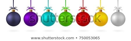Biały christmas śniegu zabawy dekoracji świętować Zdjęcia stock © david010167