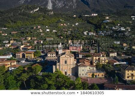 View of the parish church of Santo Stefano in  Malcesine, Italy  Stock photo © lightpoet