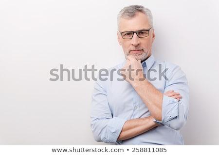 dojrzały · mężczyzna · myślenia · biały · twarz · model · pytanie - zdjęcia stock © wavebreak_media