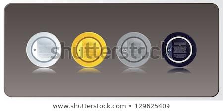 Vektor négy luxus kör címkék tükröződés Stock fotó © vitek38