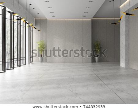зале отель черно белые вертикальный пусто здании Сток-фото © ABBPhoto