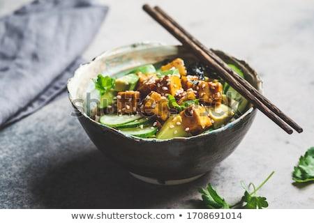 чаши Тофу фон обед свежие еды Сток-фото © M-studio