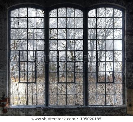 minta · öreg · törött · ipar · ablak · harmonikus - stock fotó © haraldmuc