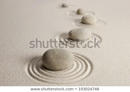 Kiegyensúlyozott csetepaté zen kavicsok 3d render fekete Stock fotó © ixstudio