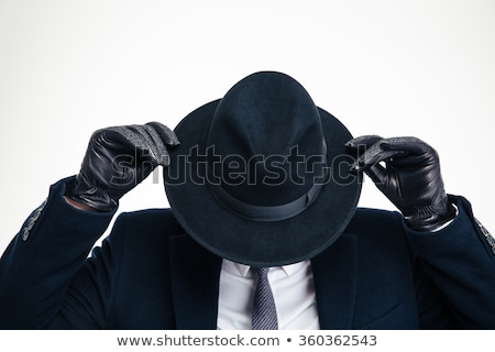 young gangster man isolated on white Stock photo © stepstock