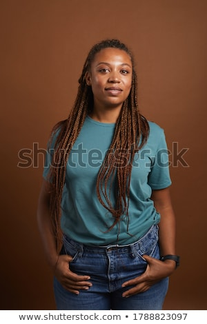 Smiling young woman waist-up portrait Stock photo © stepstock