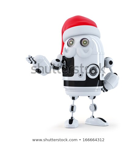 Cute android robot hoed snor ontwerp Stockfoto © Kirill_M
