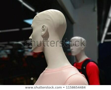 etalagepop · hoofdhuid · gedekt · plastic · kaal · hoofd - stockfoto © morrbyte