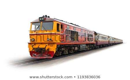 Vieux train locomotive métal moteur Photo stock © njnightsky