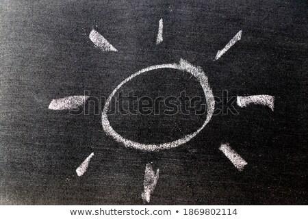 Güneş güneş ışık simge tahta modern Stok fotoğraf © PixelsAway