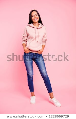 Full-length portrait of a sporty woman Stock photo © HASLOO