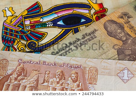 Typical Egyptian papyrus and different banknotes Stock photo © CaptureLight