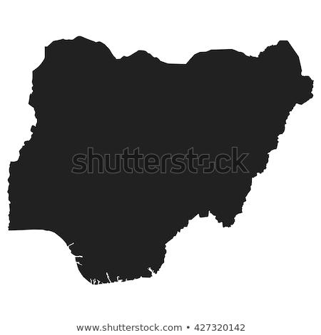 Zdjęcia stock: Pokaż · Nigeria · szczegółowy · ilustracja · banderą · eps10
