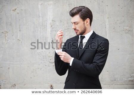 Fiatal üzletember öntet izolált fehér üzlet Stock fotó © hsfelix