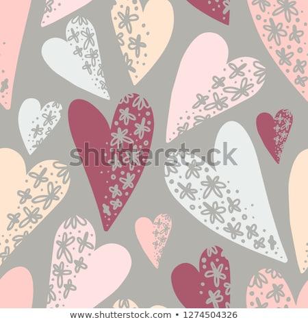 Moderne naadloos bruiloft patroon Stockfoto © vectorikart