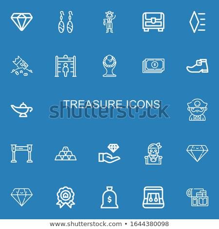 yuan bag icon with metal ring stock photo © nickylarson974