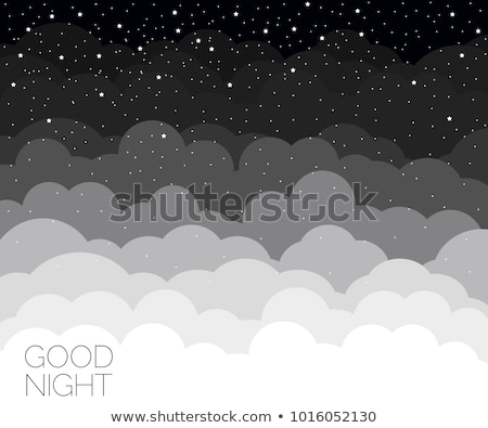 Stock photo: Beautiful clear night sky, the clouds are good.