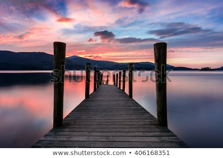 Wooden jetty  in the lake district Stock photo © chris2766