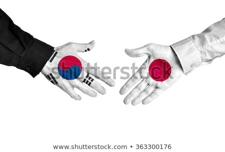 Japonia Korea Południowa Shake Hands ręce strony spotkanie Zdjęcia stock © Zerbor