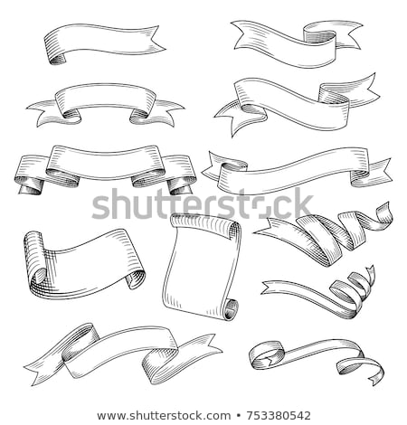 Vintage ribbon banners, hand drawn Stock photo © netkov1
