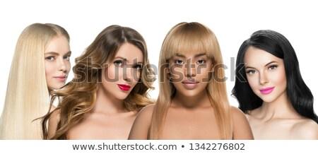 Lány különböző illusztráció divat retro szín Stock fotó © adrenalina