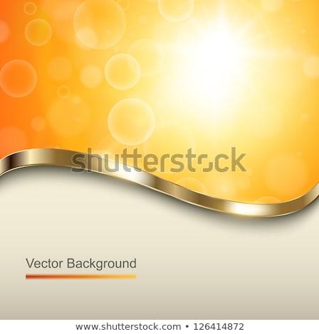 Paskalya · altın · dalga · yumurta - stok fotoğraf © olgaaltunina