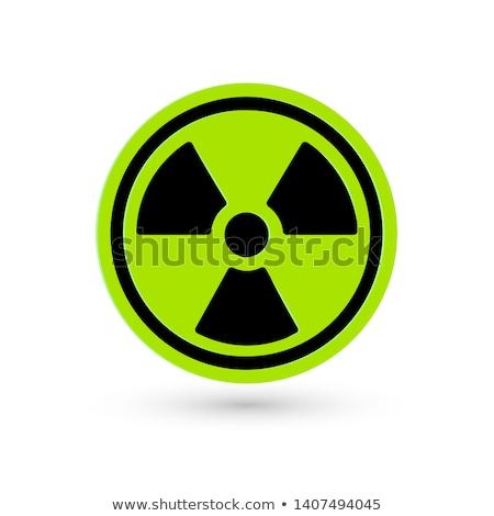 Bioveszély felirat zöld vektor ikon terv Stock fotó © rizwanali3d
