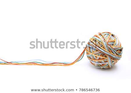 строку мяча изолированный белый веревку текстильной Сток-фото © FOKA