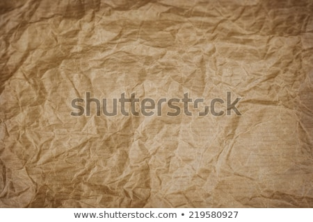Crumpled and creased sack kraft paper texture Stock photo © stevanovicigor