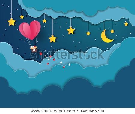 Forró levegő léggömbök eps 10 vektor Stock fotó © beholdereye