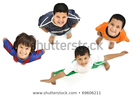 Happy child, positive fresh little boy from above, different angle Stock photo © zurijeta