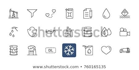 alto · bocal · ilustração · indústria · Óleo · branco - foto stock © rastudio