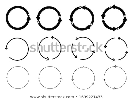 Circles connected with arrows Stock photo © pakete