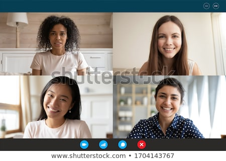 Asian and Black people engaging in different activities Stock photo © bluering