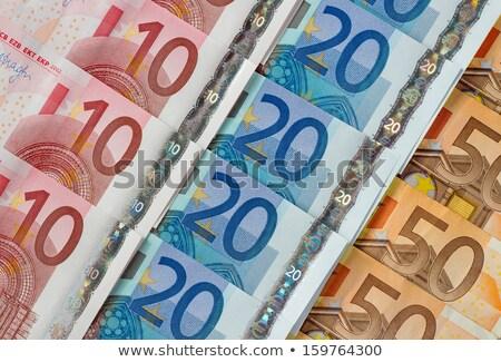 пятьдесят двадцать десять евро отмечает Сток-фото © latent