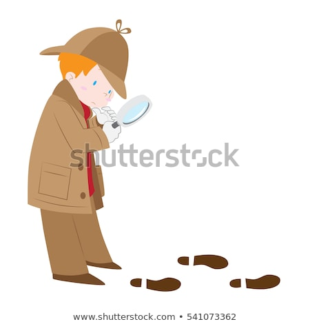 A boy following the footprints Stock photo © bluering
